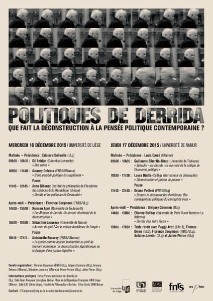 Politiques de Derrida. Que fait la déconstruction à la pensée politique contemporaine ?
