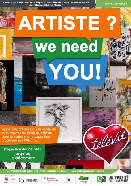 """Appel à artistes - Expo-vente """"L'art contre le cancer"""""""