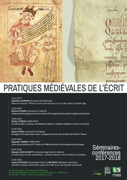 L'écrit documentaire aux IXe-Xe siècles, de l'édition des actes à la connaissance des pratiques