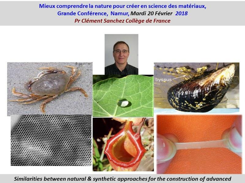 Conférence - Mieux comprendre la nature pour créer en science des matériaux