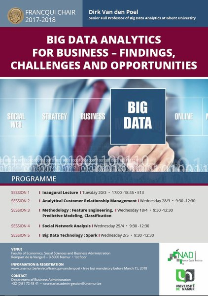 Francqui Chair « Big Data Analytics for Busines »