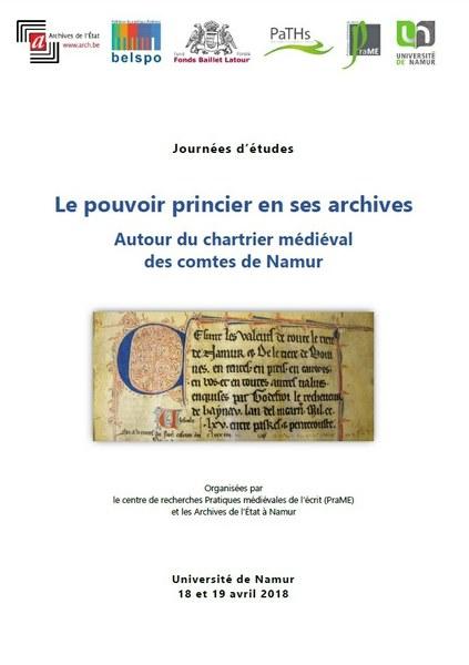Le pouvoir princier en ses archives. Autour du chartrier médiéval des comtes de Namur