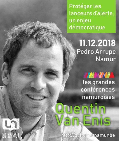 Les Grandes Conférences Namuroises : Quentin Van Enis