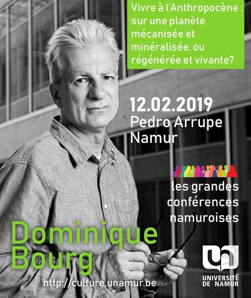 Les Grandes Conférences Namuroises : Dominique Bourg