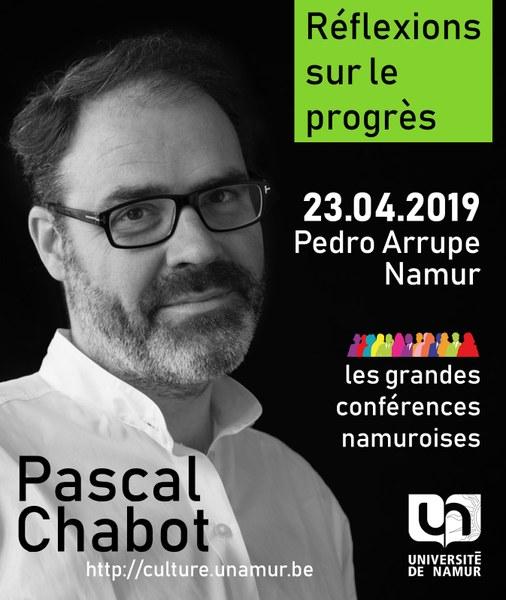 Les Grandes Conférences Namuroises : Pascal Chabot
