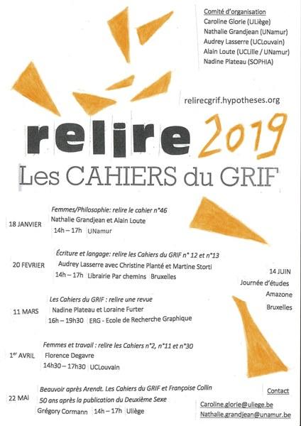 Re-lire les Cahiers du GRIF - Femmes/Philosophie n°46