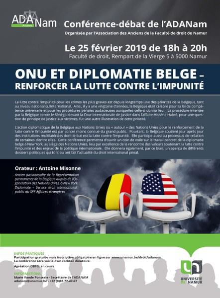 ONU et diplomatie belge