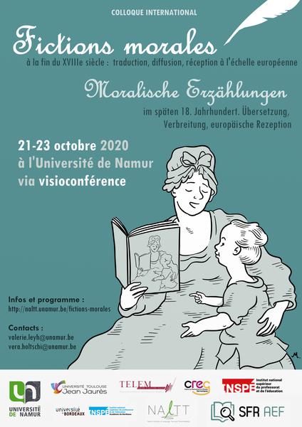 """Colloque en ligne - """"Fictions morales à la fin du XVIII siècle: traduction, diffusion, réception à l'échelle européenne"""""""