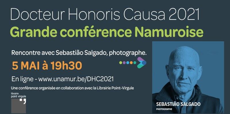 Grande conférence namuroise dans le cadre des Docteur Honoris Causa : Rencontre avec Sebastião Salgado