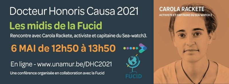 """Midi de la Fucid dans le cadre des """"Docteur Honoris Causa 2021"""" : Agir pour une justice migratoire, climatique et sociale"""