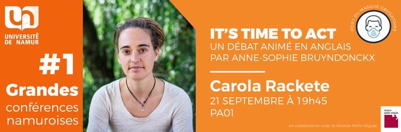 #1 - Grande Conférence Namuroise - Carola Rackete