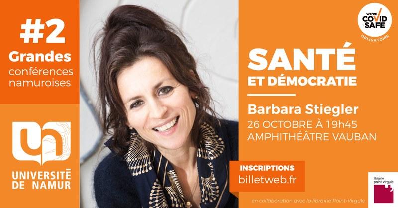 #2 - Grande Conférence Namuroise - Barbara Stiegler