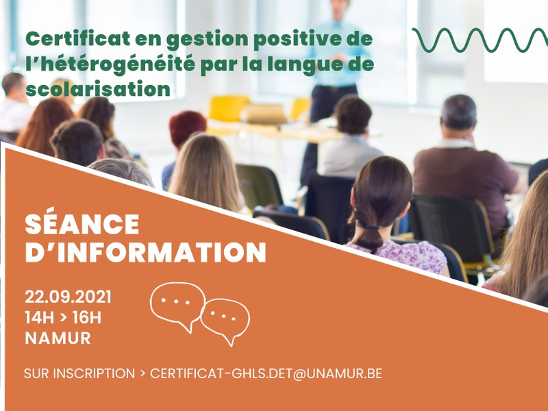 Séance d'information - Certificat en gestion de l'hétérogénéité positive par la langue de scolarisation